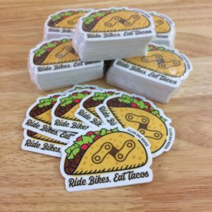 Ride Bikes, Eat Tacos sticker