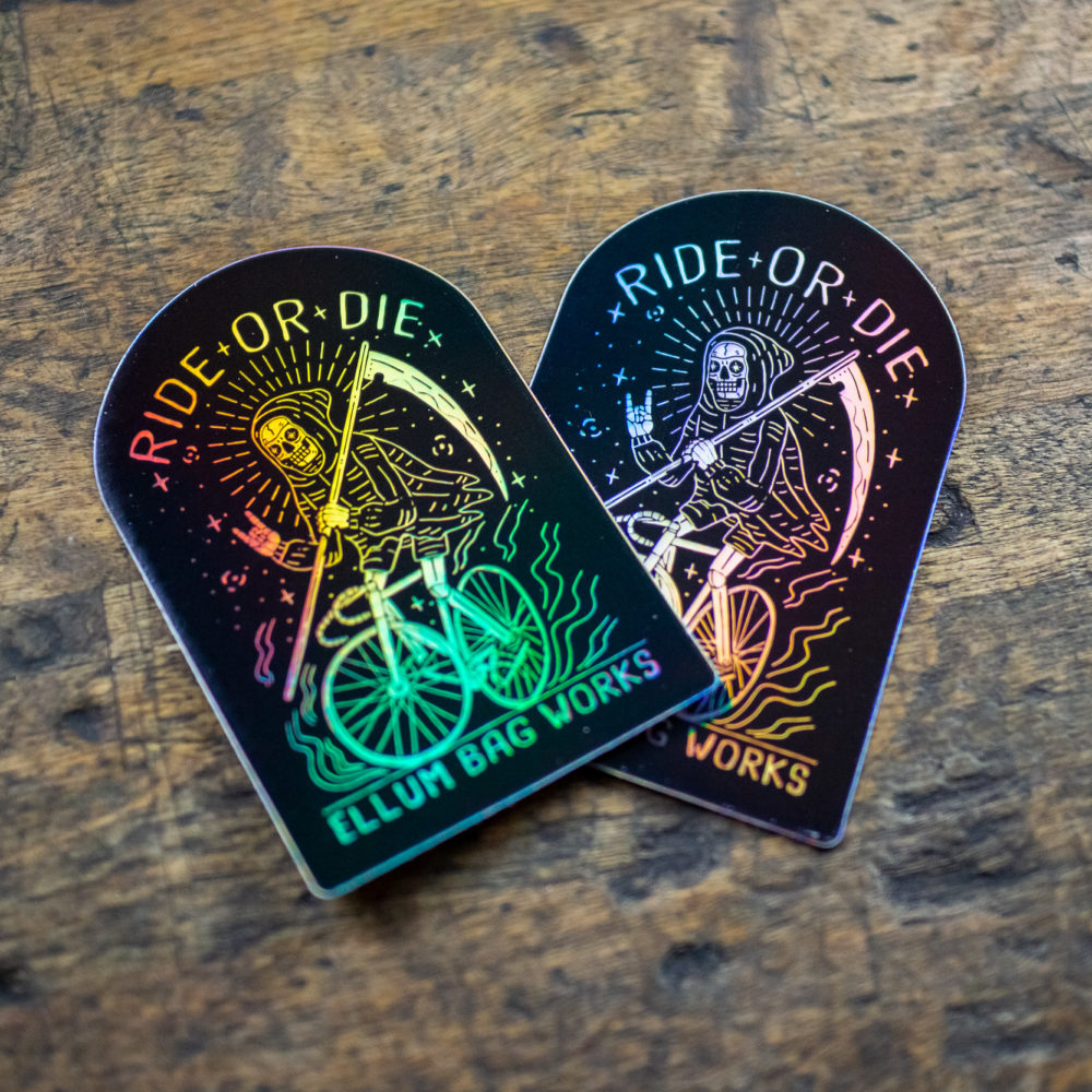 Holo Ride or Die Sticker